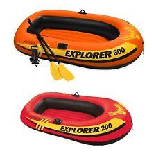 Intex 3 Person Fishing Raft w/ Pump & Oars & 2 Person Raft Set w/ 2 Oars & Pump