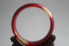 Vintage Chinese Old Natural red blood jade Hand-carved jade bangle ,R-115
