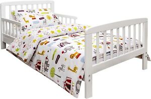 Kinder Valley 3 Piece Toddler Bedding Set - Circus Friends - Reversible - New