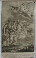 Kupferstich um 1793 La guerre 1792 Belgique ca.9,4 x 16 cm Gaulois descendans