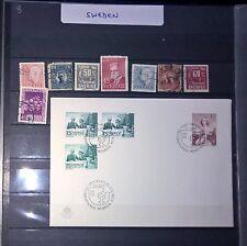 DUZIK: SVERIGE-SWEDEN Mixed Selected Stamps,Cover (NoL102)**