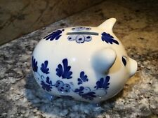Delft PIGGY BANK PIG hand painted from Holland