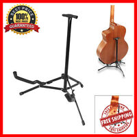 Folding Metal Guitar Ukelele Instrument Floor Stand Tripod Holder For Musicians