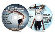 Pole Dancing DVD 2 Disc Set Learn to Pole Dance Intermediate & Advanced Keep Fit
