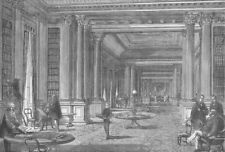 PALL MALL. Library of the Reform Club. London c1880 old antique print picture