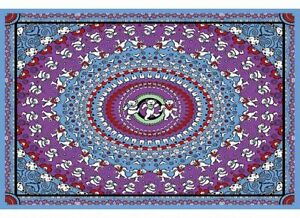"Grateful Dead Tapestry ""Dancing Bear"" (Blue/Purple) 30 x 45  - FREE SHIPPING"