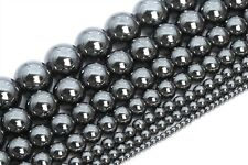 Natural Black Hematite Beads Grade AAA Round Gemstone Loose Beads 2/3/4/6/8/10MM