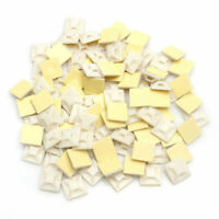 100Pcs White Nylon Cable Clamp Clip Uv Resistant Wire Electrical Hose Loop KW