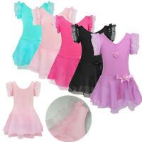 Children Ballet Dress Leotards with Skirt Dance Tutu Outfit Girls Kids Dancewear