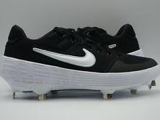Nike Base ball cleats Alpha Huarache Elite 2 Low Black AJ6873 001 Size 7 metal.