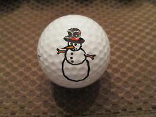 Logo Golf Ball-Snowman Logo.Cute.