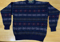 Vintage American Eagle Outfitters Christmas Sweater Pullover Striped Mens Large