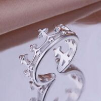 925 STERLING SILVER PLATED THUMB FINGER RING  KINGS CROWN