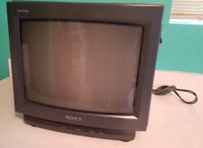"Sony Trinitron Kv-13Tr14 13"" Crt Tv Retro Gaming Color Television 1990s Remote"