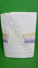 Pottery Barn Kids Ric Rac Cuff Ribbon Bed Sheets Set Full Lavender Easy Care