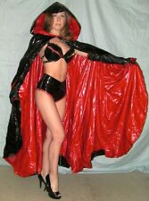 Women's Vampire Black & Red Patent Leather Costume Size 0
