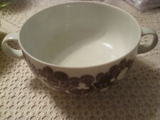 "ROSENTHAL CHINA STUDIO LINIE CORDIAL PLUS BROWN FLOWER 2-3/8"" FOOTED SOUP BOWL"