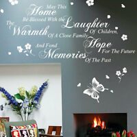 this home be blessed wall quotes stickers butterfly flower