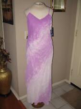 Elegant Lavender /off white Gown/Dress w/Scarf. Size Small  Medium &  XLarge.