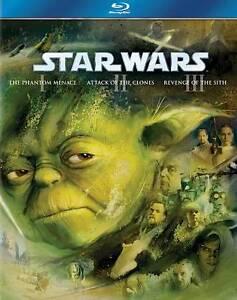 Star Wars Trilogy: Episodes I-III (Blu-ray Disc, 2011, 3-Disc Set, Boxed Set)