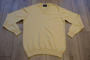Hilditch & Key Cashmere Knit Jumper Pullover M Made in Scotland