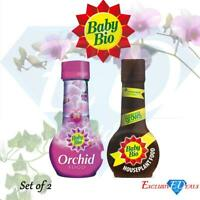 Baby Bio Concentrated Orchid Food & House Plant Food Drip Fertiliser 175ml Each