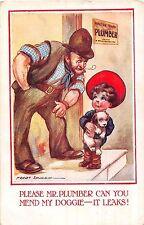 POSTCARD  CHILDREN  Please  Mr  Plumber....      SPURGIN