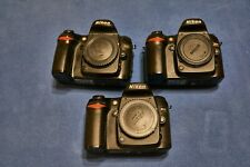 3x Nikon D80 10.2MP DSLR Camera Body for Parts or Repair
