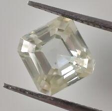 Cut Loose Moissanite Diamond 4 Ring/Pendant 2.00Ct 7.28 Mm Vs1 Off White Asscher