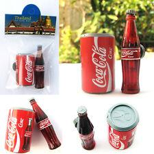 Coca Cola Coke Can + Bottle 3D Miniature Magnets Souvenir Coca Cola Thailand