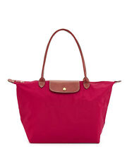 Longchamp Le Pliage Classic Nylon Large Shopping Tote Authentic Overrun - Red