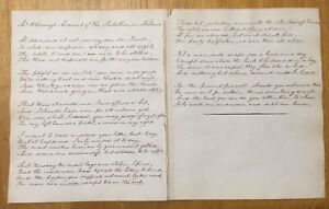 Mr O'Looney's Account of the Rebellion in Ireland -  c1820. - handwritten.