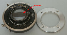 FAST! Voigtlander Heliar 105mm/3,5 in Compur shutter FULL WORKING+mounting ring