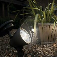 Pair Outdoor Solar Spotlights Garden Lighting Gardman