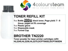 200g TONER REFILL FOR  BROTHER TN2220 2220 HL2240 HL2250DN HL2270D DCP7060D