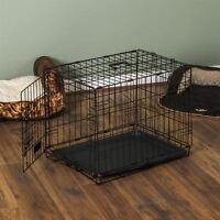 Pet Cage Dog Cat Puppy Training Folding Crate Animal Transport 30 Inch Metal