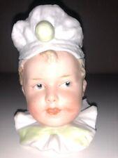 Antique Bisque German Heubach Figurine Figure Figural Box Jar Pot Piano Baby