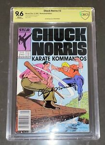 CHUCK NORRIS SIGNED CHUCK NORRIS KARATE KOMMANDOS #3 COMIC BOOK CBCS 9.6 NOT CGC