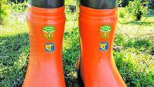 Husqvarna 505673442 Rubber Chainsaw Logging Boots, Men's U.S. Size 9