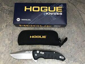 "Hogue X1 Microflip 2.75"" Folding Knife Drop Point Blade Matte Black 24170"