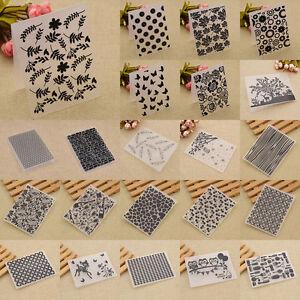 DIY Variety Plastic Embossing Folder Scrapbooking Decor Papercraft Making Tools