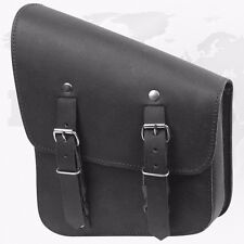 *Motorbike Solo Bag Saddle Pure Leather Single Side Pannier Motorcycle Luggage*