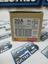 SQUARE D HOM120, BOX OF (10) 20 AMP 1 POLE 120 VOLT BREAKER- NEW
