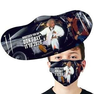 Dont Set It To 2020 Back To The Future Face Cover Reusable Printed Face Mask