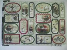 Beautiful Kanban Die Cut Christmas Toppers 'Festive Sentiment - Green' (395) M