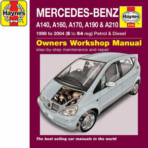 [4748] Mercedes A Class 1.4 1.6 1.9 2.1 Petrol 1.7 TD 98-04 (S to 54 Reg) Haynes