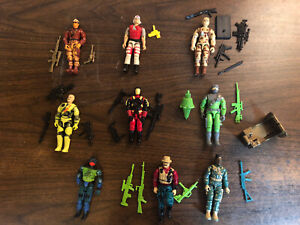GI Joe ARAH Lot Of 9, Series 10 & Beyond Varying Conditions And Completedness