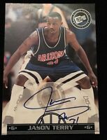 JASON TERRY 1999 PRESS PASS Autographed Signed BASKETBALL Card ARIZONA