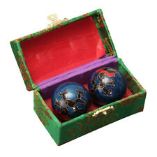 2X Chinese Health Exercise Stress Dragon Baoding Balls Relaxation Therapy + Box