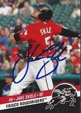Jake Skole 2014 Frisco Roughriders Signed Card